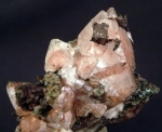 Copper in and on Calcite from Quincy Mine, Hancock, Houghton County Michigan [user/geokrazy/db_pics/pics/GEO-506c.JPG]